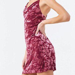 Forever 21 Floral Velvet Mini Dress